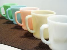 Colors Antique Pottery, Mccoy Pottery, Vintage Fire King, Vintage Kitchenware, Displaying Collections, Mug Shots, Pyrex, Farm Life, Milk Glass