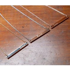 Thick Bar Necklaces by LilyEmmeJewelry | Hatch.co