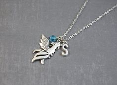 Phoenix Necklace  Bird Jewelry  Personalized by DoodieBear on Etsy