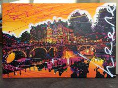 Schilderij: Hoek Keizersgracht / Leidsegracht in Amsterdam