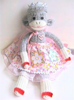Sockmonkey Princess CUSTOMIZED FOR YOU by mistersockmonkey1
