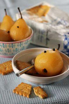 Poire au sirop de gingembre / Dans la cuisine de Sophie