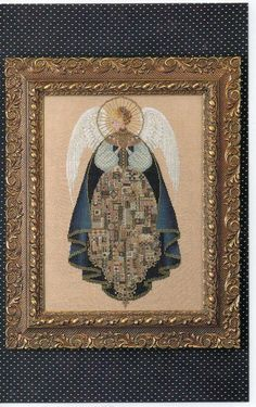 Cross Stitch Chart  Angel of Love Lavender and Lace by CloeCessna, $10.95