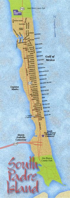 South Padre Island Things to Do Maps, just a half days drive to the best beaches in Texas. Courtesy NWSArealty.com
