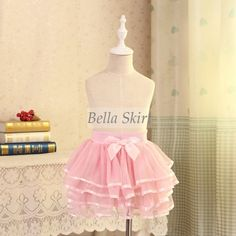 Princess pink tulle skirts for girls