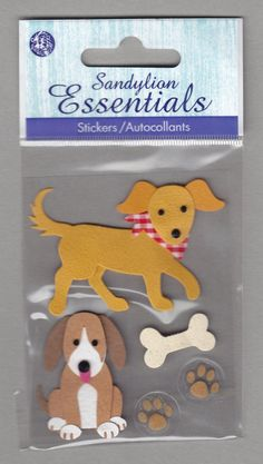 Sandylion+Essentials+Scrapbooking+Stickers+DOG+bone+best+friend+guard+3D+-+ES16
