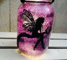 Fairy on Branch, Mason Jar Light, Outdoor Solar Light, Hand Painted Mason Jar, Hanging Lantern, Quart Size, Outdoor Lighting by CareBaresCreations, $18.95