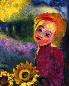 Small Sunflowers (1946) by Emil Nolde (artstack)