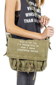 THIS IS THE BAG- Army green