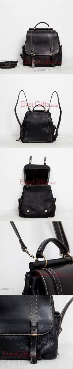 Genuine leather vintage women handbag shoulder bag crossbody bag backpack
