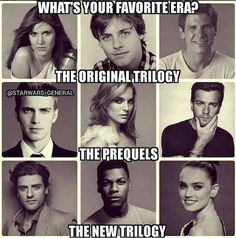 Which one is your favorite??  Mine is the original trilogy.