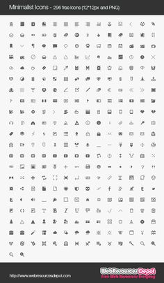 Minimalist Icons – 296 Free Icons In 12*12px