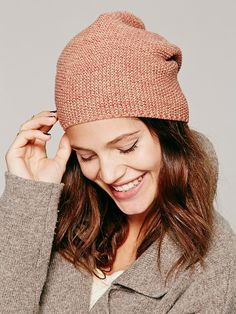 Free People Marled Lightweight Slouchy Beanie, $28.00