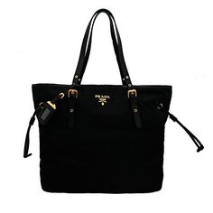 Prada BR4997 Nero Tessuto Suffian Black Nylon and Leather Shopping Tote Bag - http://bags.bloggor.org/prada-br4997-nero-tessuto-suffian-black-nylon-and-leather-shopping-tote-bag/