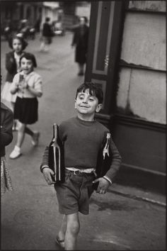 Rue Mouffetard, Paris, 1954 by Henri Cartier-Bresson