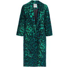 Baum und Pferdgarten Dara Leopard Print Coat (3.165 NOK) ❤ liked on Polyvore featuring outerwear, coats, animals, leopard print coats, blue coat, baum und pferdgarten, leopard coat and oversized coat