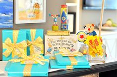 Little Golden Book theme---this is a baby shower, but I think the same concept could easily be made into an awesome party for a little person.