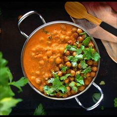 Simple and comforting chickpea tikka masala curry featuring a simple pantry ingredient transformed into a magical feast! Lentil Recipes, Veg Recipes, Curry Recipes, Healthy Dinner Recipes, Indian Food Recipes, Vegetarian Recipes, Cooking Recipes, Capsicum Recipes, Jain Recipes