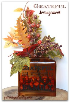 Simple yet stunning Grateful Arrangement for Thanksgiving with materials from @craftsandframes