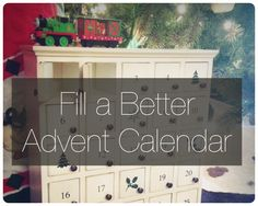 Filling the Advent calendar with more meaningful, less stressful, less costly gifts.