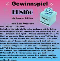 """Leserattes Bücherwelt: ♥ Gewinnspiel ♥ """"El Nino""""  die Special Edition"""