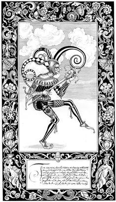 Reinterpretation of two Tarot cards - Fool and Priestess Joker Playing Card, Joker Card, Jester Tattoo, Le Clan, Art Et Design, Jugendstil Design, Major Arcana, Art Graphique, Freelance Illustrator
