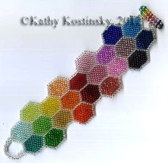 Instant Download! Spectral and Silver Honeycomb Bracelet Pattern