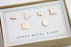 Steuerelementsatz Ohrringe 6 Stück in Bronze von uppermetalclass