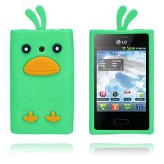 Duck (Green) LG Optimus L3 Cover