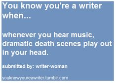 Or action scenes or humor or whatever. Hence why I make weird faces when listening to music. XD