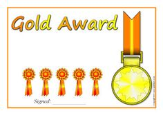 Editable Gold, Silver, Bronze and Highly Commended award certificates School Themes, School Ideas, Bronze Award, Word Templates, Honor Roll, Award Certificates, Free Teaching Resources, Microsoft Word, Open House