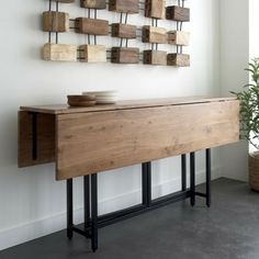 petite-table-de-cuisine-pliante-aménagement-petit-espace-bois-idée