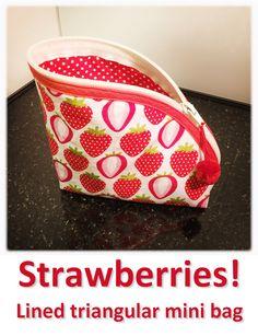 Strawberries! (02) Mini Bag, Strawberries, Lunch Box, Bags, Collection, Handbags, Strawberry Fruit, Bento Box, Strawberry