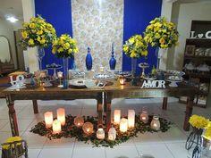 Focus Festas e Eventos | Azul Royal e Amarelo - Demolição