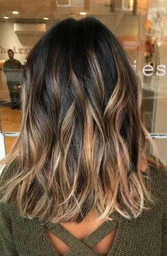 Toffee Lights, Love this blend of caramel and toffee highlights on a darker brunette base.Hair Color, Hair Styles, Hair Stylists ,balayage, beauty, brunette, hair, hairstyles, highlights