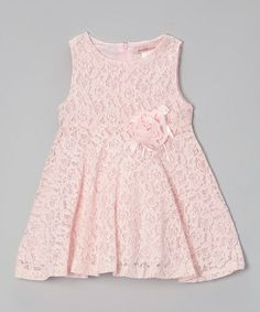 Look at this #zulilyfind! Baby Pink Lace Babydoll Tunic - Toddler & Girls by Paulinie #zulilyfinds