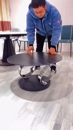 Folding Furniture, Smart Furniture, Space Saving Furniture, Metal Furniture, Unique Furniture, Table Furniture, Diy Furniture Videos, Diy Furniture Plans, Contemporary Dining Table