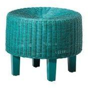 IKEA SKEE Repose-pieds turquoise (réf.: 30233017)