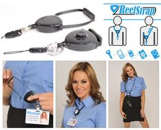 Lanyards are not as useful than Reelstrap which you can easily adjust to right length. Reelstrap retractable lanyard is useful with ID badge or iD card. Id Badge, Id Holder, Packing, Good Things, Accessories, Bag Packaging, Jewelry Accessories