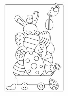 Easter Bunny Coloring Pages: This set of coloring pages are apt, especially before Easter, to keep your child interested. These will provide small snippets of information even as your child engages in this activity.