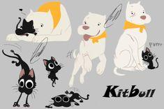kitbull by fnafmangl on DeviantArt Animal Sketches, Animal Drawings, Cute Drawings, Art Sketches, Disney Kunst, Disney Art, Disney Pixar, Cute Comics, Love Art