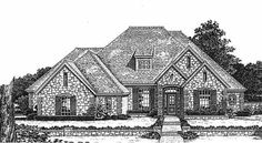 French Country Style House Plans - 2778 Square Foot Home , 1 Story, 4 Bedroom and 3 Bath, 3 Garage Stalls by Monster House Plans - Plan 8-755