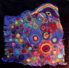 organza and felted wool by Cecile Meraglia