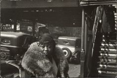 """42nd street, Manhattan, by photographer Walker Evans, 1928/1929.   This American photographer is best known for his work for the Farm Security Administration (FSA) documenting the effects of the Great Depression.  He said that his goal as a photographer was to make pictures that are """"literate, authoritative, transcendent"""". Many of his works are in the permanent collections of museums and have been the subject of retrospectives at such institutions as The Metropolitan Museum of Art."""