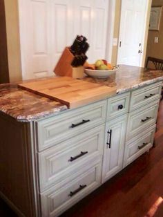 DIY kitchen island made by hubby & me from unfinished ...