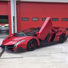 Happy #CanadaDay  • Red Veneno Roadster - pic by @Alan_Bale_Lamborghini • #CarsWithoutLimits