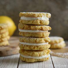 sandy-textured lemon shortbread cookies w/ creamy lemon filling