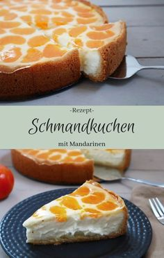 Sour cakes with mandarins - The inspiring Schmandkuchen mit Mandarinen – The inspiring life Recipe: sour cream cake with tangerines from the springform pan Simple and fast Easy Cake Recipes, Cupcake Recipes, Cookie Recipes, Dessert Recipes, Sour Cream Cake, Pumpkin Spice Cupcakes, Food Cakes, Savoury Cake, Smoothie Recipes