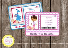 PRINTABLE Doc themed Doctor Badge for Boys by HilltopCustomDesigns, $5.50