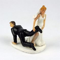 Bride and Groom Funny Cake Topper For Wedding - Wedding Look